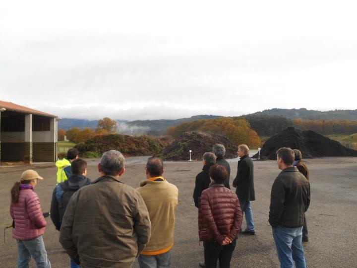 Petit tour sur la plateforme de compostage gérée par la société CLAUSTRE environnement.