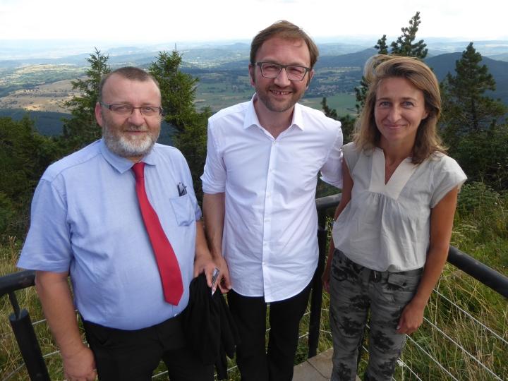 Avec Patrick Mignola et Cécile Gallien, maire de Vorey et conseillère départementale de la Haute-loire